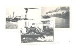 Lot De 3 Photos (+/- 6 X 9 Cm ) Remorqueur Sur Le Rhin / Rhein En 1951 - Bateau Avec Roue à Aubes (b283) - Schiffe