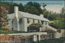 Bermuda Ansichtskarte 35+36 Hamilton Nach New York City The Old Tucker Home 1920 - Bermuda