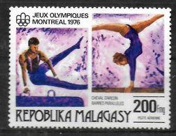 MADAGASCAR  PA 163  * *   Jo  1976 Gymnastique Arcon Poutre - Gimnasia