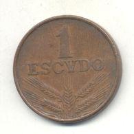 PORTUGAL 1$00 ESCUDO 1974 - Portugal