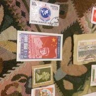 CINA MAO E GRANDE MURAGLIA  1 VALORE - Briefmarken