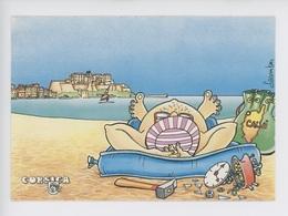 Calvi Sourire De Corse - Lacombe Illustrateur (sac Géographique Réveil Marteau Doigts Pied éventail) Isula Corsica - Humor
