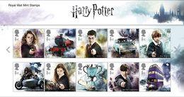 GROSSBRITANNIEN GRANDE BRETAGNE GB 2018 HARRY POTTER SET 0F 10V. MNH SG 4141-50 MI 4270-79 YT 4690-99 SC 3780-89 - Unused Stamps