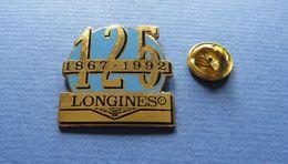 Pin's, LONGINES 1867-1992,montre,watch,suisse - Merken