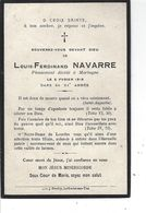 85 - MORTAGNE - Beau Faire Part De Décès De M. Louis Ferdinand NAVARRE - 1918 - Avvisi Di Necrologio