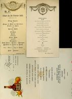 Lot De 8 Menus 1935 à 1959 - Menükarten