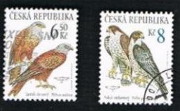 REP. CECA (CZECH REPUBLIC) - SG 375.376 - 2003  BIRDS OF PREY     -   USED - Tchéquie