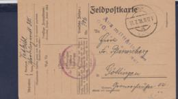 German Feldpost WW1: Horse Hospital - Pferde Lazarett 385 With Cachet Delayed Due To Military Reasons (Aus - WW1