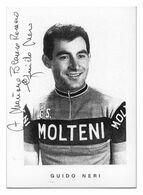 CARTE CYCLISME GUIDO NERI SIGNEE TEAM MOLTENI 1965 - Ciclismo