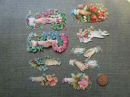 17 Découpis Mains Et Fleurs - Unclassified