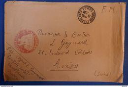 521 MAROC LETTRE 1940 FRANCHISE MILITAIRE POUR ASNIERES + AFFRANCHISSEMENTS INTERESSANTS - Lettres & Documents