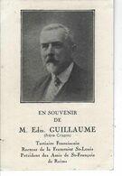 51 - REIMS -T.Beau Faire Part De Décès De M. Edm. GUILLAUME ( Frère Crispin ) , Président Des Amis De St François - 1937 - Avvisi Di Necrologio