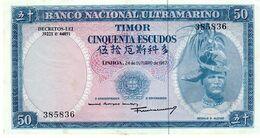 Timor P.27  50 Escudos 1963  A-unc - Timor
