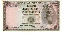 Timor P.26  20 Escudos 1963  A-unc - Timor