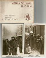 « Misères De L'hiver 1940-1941 » Pochette Complète De 10 CP Au Profit Des Secours D'hiver »  Ed. Du Secours D'hiver, Bxl - 1939-45