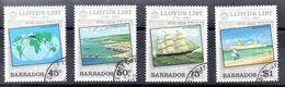 Barbados Serie Nº Yvert 596/99 O BARCOS (SHIPS) - Barbados (1966-...)