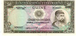 PORTUGUESE GUINEA P.44 50 Escudos 1971 Unc - Banknoten
