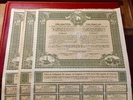 Emprunt  4 1/2%  1931  De  La  VILLE  CAPITALE  De  VARSOVIE -------Lot  De  3  Obligations  De  284 Frs - Azioni & Titoli