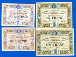 Evreux  4  Billets - Chambre De Commerce