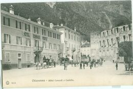 Chiavenna; Hôtel Conradi E Castello - Non Viaggiata. (Brunner & C. - Como E Zürich) - Sondrio