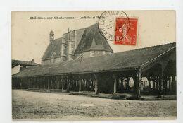 CPA: 01 - CHATILLON-SUR-CHALARONNE - LES HALLES ET L'EGLISE - - Châtillon-sur-Chalaronne