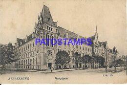 139752 FRANCE STRASSBURG POST OFFICE SPOTTED POSTAL POSTCARD - Unclassified