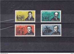RDA 1963 ARTISTES Yvert 657-660 NEUF** MNH - DDR