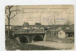 CPA: 01 - CHATILLON-SUR-CHALARONNE - LES BORDS  DE LA CHALARONNE - - Châtillon-sur-Chalaronne