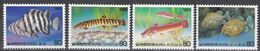 Tr_ Korea Süd 1989 - Mi.Nr. 1602 - 1605 - Postfrisch MNH - Tiere Animals Fische Fishes - Poissons