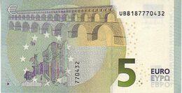 (Billets). 5 Euros 2013 Serie UB, U008I2 Signature 3 Mario Draghi N° UB 8187770432 UNC - EURO