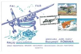 COV 73 - 278-a AIRPLANE, Flight Brasov-Bucuresti , Romania - Cover - Used - 1983 - Aerei