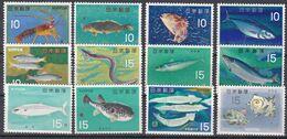 Tr_ Japan 1966 - Mi.Nr. 908 - 919 - Postfrisch MNH - Tiere Animals Fische Fishes - Poissons