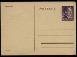 WW II GG Generalgouvernement Polen GS Postkarte , Hitler: Ungebraucht. - Duitsland