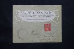 FRANCE - Timbre De Grêve De Valenciennes Sur Enveloppe Commerciale En 1914 , Signée Pothion Au Dos - L 66009 - Scioperi