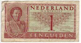 (Billets). Pays Bas. Netherland. 1 Gulden 1949 N° 5 BY 062160 - [2] 1815-… : Koninkrijk Der Verenigde Nederlanden