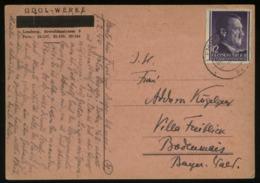 WW II GG Generalgouvernement Postkarte Odol Werke: Gebraucht Lemberg - Bodenmais 1944 , Bedarfserhaltung. - Cartas