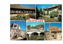 Cpm - 01 - Châtillon-sur-Chalaronne - Ain - Multivues - Châtillon-sur-Chalaronne