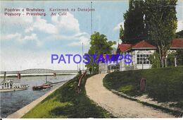139772 SLOVAKIA BRATISLAVY PRESSBURG THE COFFEE VIEW PARTIAL POSTAL POSTCARD - Slovakia