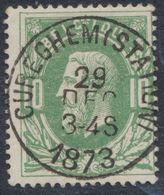 """émission 1869 - N°30 Obl Double Cercle (DU) """"Cureghem (station)"""" Luxe !  / Collection Spécialisée. - 1869-1883 Leopoldo II"""