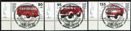 BRD - Mi 3557 / 3559 ECKEN LIU - Zentrisch OO Gestempelt (10117) - Feuerwehren, Jugend 20, Ausg.: 6.8.20 - Used Stamps
