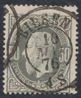 """émission 1869 - N°35 Obl Double Cercle """"Bilsen"""" (1876). Superbe, Fin Aminci / Collection Spécialisée - 1869-1883 Leopoldo II"""