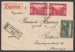 Bosnia, Registered Express Letter Sent From Donji Vakuf To Pakrac - Bosnien-Herzegowina