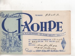Cpa.Cartes QSL.PAOHPE.Netherlands.Delft.to PAOKA - Radio Amateur