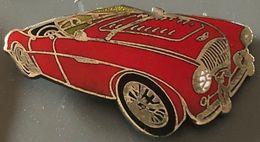 VOITURE - RED CAR - AUSTIN ROUGE HEALEY - BRITISH CAR - BLANCHE - EGF - WAGEN - CARRO - AUTO - AUTOMOBILE -        (26) - Pin