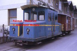 Reproductiond'unePhotographie D'une Petite Locomotive Et Wagon à Crémaillère BVB à Bex En Suisse En 1972 - Riproduzioni