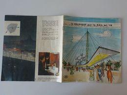 1958 Fascicule Livre Exposition Universelle Bruxelles Expo 58 La Belgique Par Le Rail En 58 Atomium - Weltausstellungen