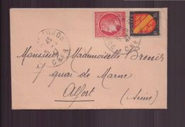 France, Enveloppe Du 5 Juin 1947 De Dun-sur-Auron Pour Alfort - France