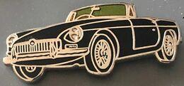 VOITURE - BLACK CAR - MG BRITISH CAR NOIRE - CABRIO SPORT -  EGF - WAGEN - CARRO - AUTO - AUTOMOBILE - A 2120 -    (26) - Pin