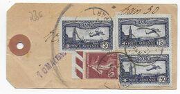 1933 - SEMEUSE + POSTE AERIENNE - ETIQUETTE ECHANTILLON De PARIS => CHARLEVILLE MEZIERES (ARDENNES) - 1927-1959 Lettres & Documents