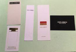 Lot De Cartes à Parfumer DOLCE GABBANA - Cartes Parfumées